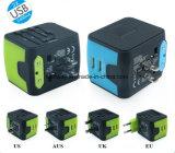 多機能のユニバーサル二重USBは米国EUイギリスのAusのプラグを持つ充電器を移植する