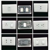 стенные розетки надувательства меди ABS 6A/250V 10A /125V материальные горячие (MA-04)