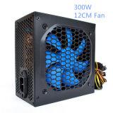 Реальное электропитание PC 300W с электропитанием переключения цвета ATX охлаждающего вентилятора 12cm голубым