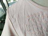 여름 리넨 편리한 Breathable 분홍색 형식 t-셔츠