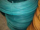 PVC上塗を施してある鉄ワイヤー、PVCワイヤー、PVCはワイヤーに塗った