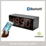 altavoz profesional audio de Bluetooth de la pantalla 7-Inch con el reloj de alarma de Bell