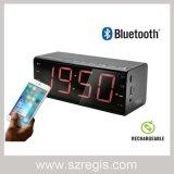 Haut-parleur professionnel sans fil stéréo portatif de Bluetooth avec l'horloge d'alarme