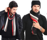 人の冬の古典的なしまのある人のウールのスカーフ(82020)
