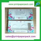 Kundenspezifischer faltbarer Wimper-Papierkasten-Verpackungs-Kasten-Schmucksache-Kasten-kosmetischer Kasten mit Fenster