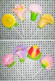 Caramelo del Lollipop de la melcocha de la dimensión de una variable de la historieta por el tiempo libre