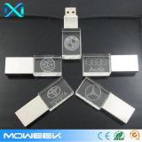 movimentação do flash do USB da vara da movimentação da memória do USB 2.0 do cristal do logotipo 3D