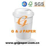 Taza de papel de calidad superior de la categoría alimenticia con imagen de encargo