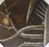 Pittura semplice della tela di canapa della famiglia della decorazione stellata silenziosa dipinta a mano moderna di notte