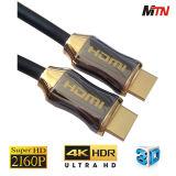 ハイエンド品質1.4/2160p、4k TVのためのケーブル・アセンブリ6フィートのHDMIの、3D青光線プレーヤー、プロジェクター