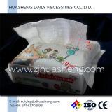 Tecido facial do algodão não tecido para o uso do bebê, uso da Pele-Limpeza