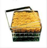 Boîte à fleurs en résine acrylique transparente en plastique transparent de haute qualité