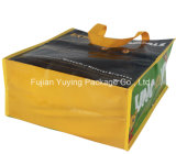 Мешок сплетенный PP с прокатано для ходить по магазинам с изготовленный на заказ размером