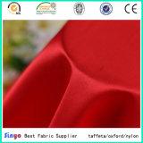 Tela barata de la tela cruzada de la materia textil del satén de Strengh del poliester del brillo para la alineada del juego de la ropa