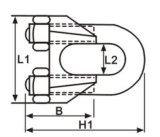 Зажимы веревочки провода нержавеющей стали AISI 304/316 DIN 741