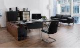新式の革オフィスの木の机(V18A)