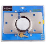 Nickle Plated 73mm Round Steel Hockey Puck Lock com Hasp