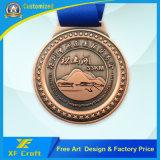 スポーツのための専門家によってカスタマイズされる亜鉛合金の円形浮彫りかニッケルによってめっきされるエナメルメダル