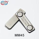 Metallüberzogenes magnetisches Abzeichen mit zwei runden NdFeB Magneten