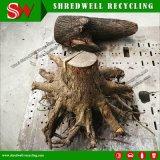 La desfibradora de madera del desecho doble del eje recicla la ramificación de madera inútil de la paleta/de árbol/la tarjeta del raíz del árbol/madera