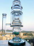 Großverkauf 18 Zoll-Glaswasser-Rohr mit drei Bienenwabe Perc und Sprenger Perc