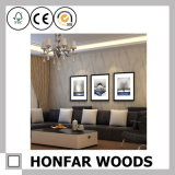 Frame de prata do poster da pintura da madeira contínua para a decoração da entrada do hotel