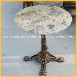 Mesa de centro azul barata da mobília da sala de jantar do mármore da pedra do granito da pérola