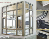 Nueva ventana de aluminio del marco 2017 con el vidrio Tempered doble
