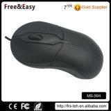 Kundenspezifischer Firmenzeichen-Schwarz-optischer 3 Tasten PC verdrahtete USB-Maus