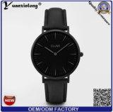 Reloj promocional de los relojes de las mujeres de señora Leather Luxury Fashion Vogue Cluse de los relojes de la alineada de la marca de fábrica del acero inoxidable Yxl-236