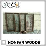 Marco de madera natural rústico de la foto del cuadro para la decoración del restaurante