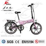 """250W 20"""" de aleación de aluminio plegable E-Bici con el certificado TUV (JSL039BL-3)"""