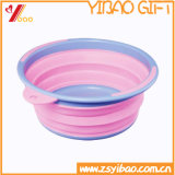 Tazón de fuente Customed (YB-HR-144) del perro del silicón de la alta calidad de la resistencia de abrasión