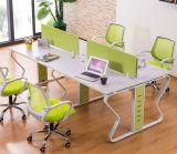 Mobília de escritório azul L da melamina da cor estação de trabalho da forma (Hx-Ncd177