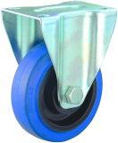 Roue silencieuse de chasse de chariot à chasse fixe élastique à usage moyen en caoutchouc de 3/4/5 pouce