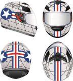 Casques neufs de type pour des motos de Cascos de motocyclette