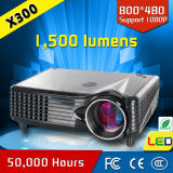 Larga vida de la lámpara 1500 Lumens HD LED Mini Proyector