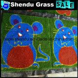 Esteira artificial da grama da caixa com tamanho 1mx1m