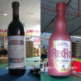 Botella publicitaria inflable de la bebida del paño de Oxford de la alta calidad