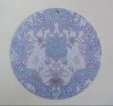 Etiqueta de papel impresa dimensión de una variable del círculo