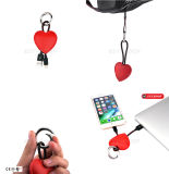 Case Decoration Key Ring Carregador Wire Cabo USB para iPhone