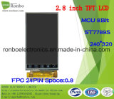 2.8 module de TFT LCD de pouce 240*320 MCU, St7789s, 24pin avec l'écran tactile d'option