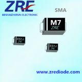 diodo de retificador de uso geral do diodo M1 /M7 /S1m SMD de 1A 1000V com caso de SMA