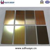 Plaque grise laminée à froid d'acier inoxydable de couleur pour la décoration intérieure