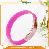 Wristband all'ingrosso del silicone con il marchio