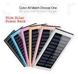 매우 호리호리한 태양 에너지 은행 20000mAh 휴대용 태양 충전기 알루미늄 외부 배터리 백업 매우 얇은 태양 에너지 은행