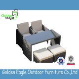 Mobilia esterna del rattan di vendita della mobilia che pranza gli insiemi casuali