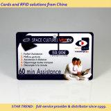 Kras plastic kaart met de streepjescode voor Rechargeable Card