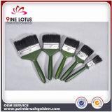 Materiale puro nero della setola di alta qualità con il pennello di plastica verde della maniglia