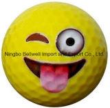 にこやかな表面ゴルフ・ボールのEmojiのゴルフ・ボールのギフトのゴルフ・ボール